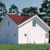 Дом из СМЛ-СИП-панелей 84 м²