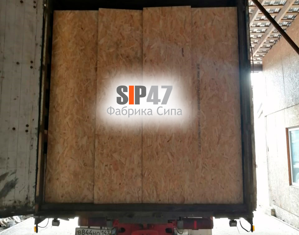 Доставка СИП-панелей 2500х1250х625 мм в город Гатчина
