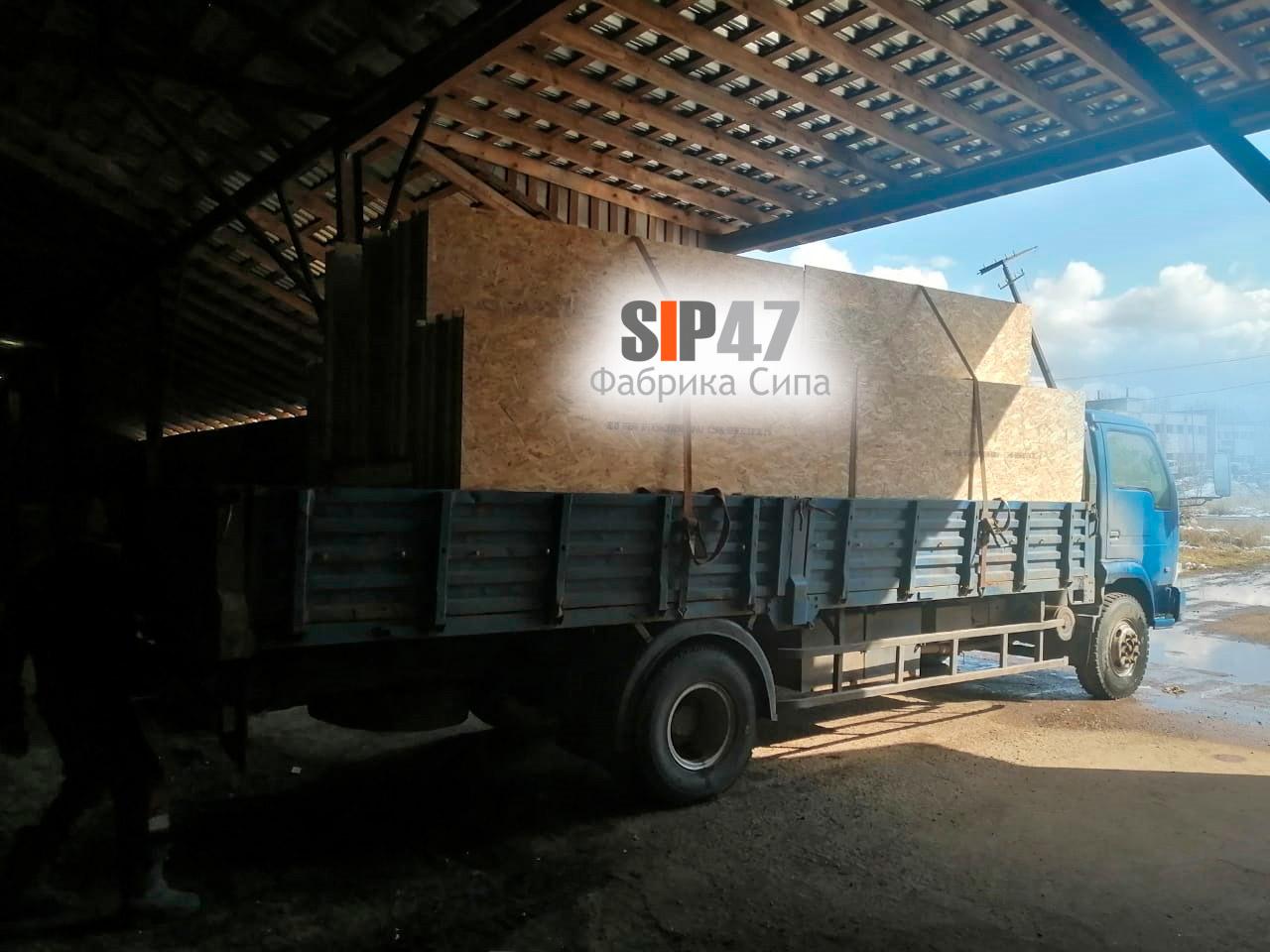 Доставка СИП-панелей в деревню Келози Ломоносовский район