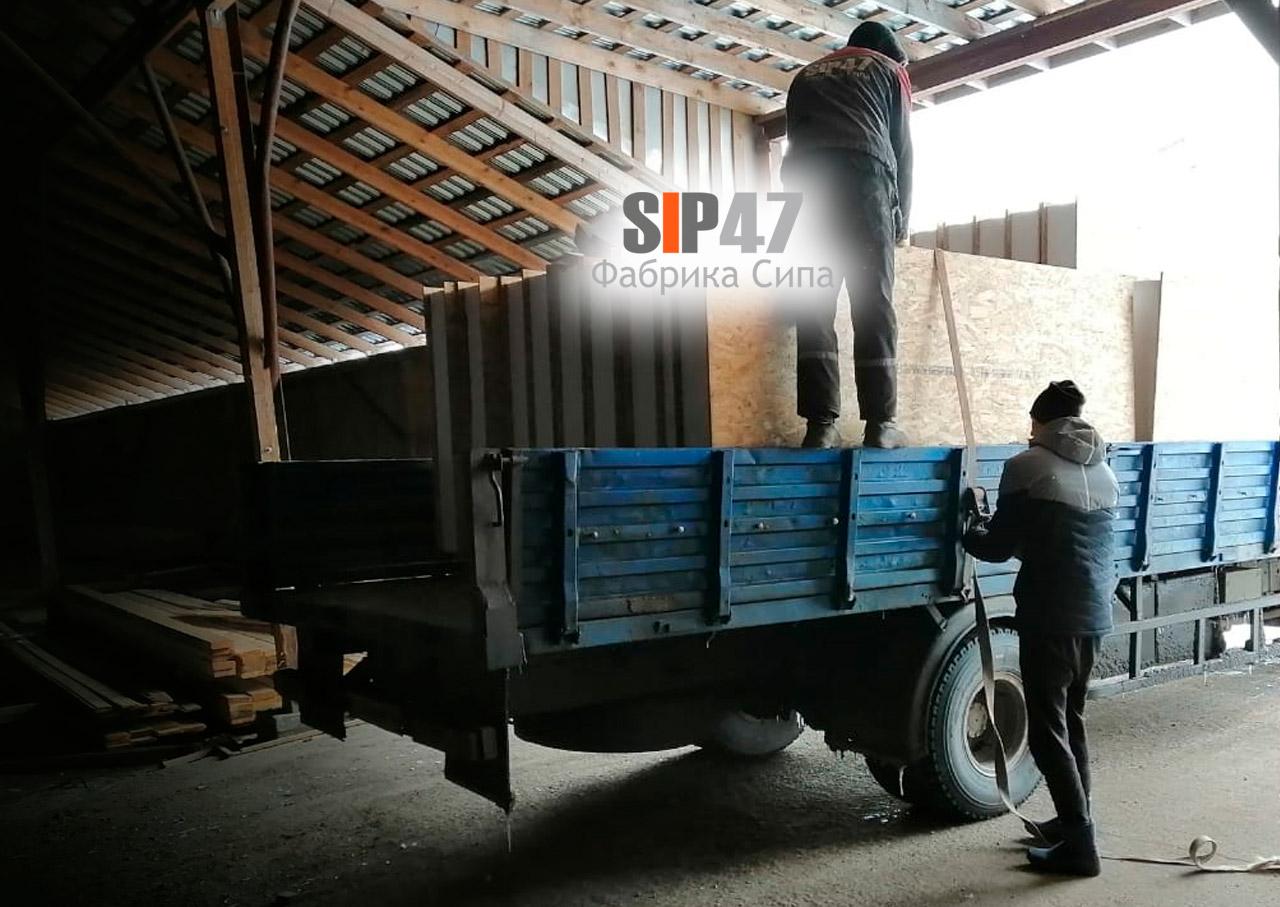 Отгрузка комплекта СИП-панелей в СНТ Заостровье