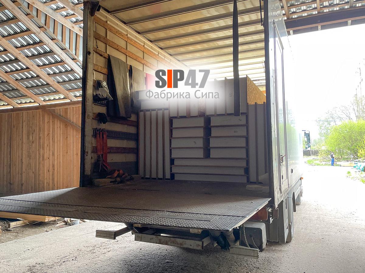 Доставка СИП-панелей в коттеджный посёлок Простоквашино