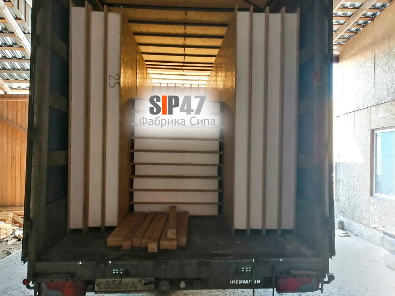 Доставка СИП-панелей в СНТ Гранит, Агалатово