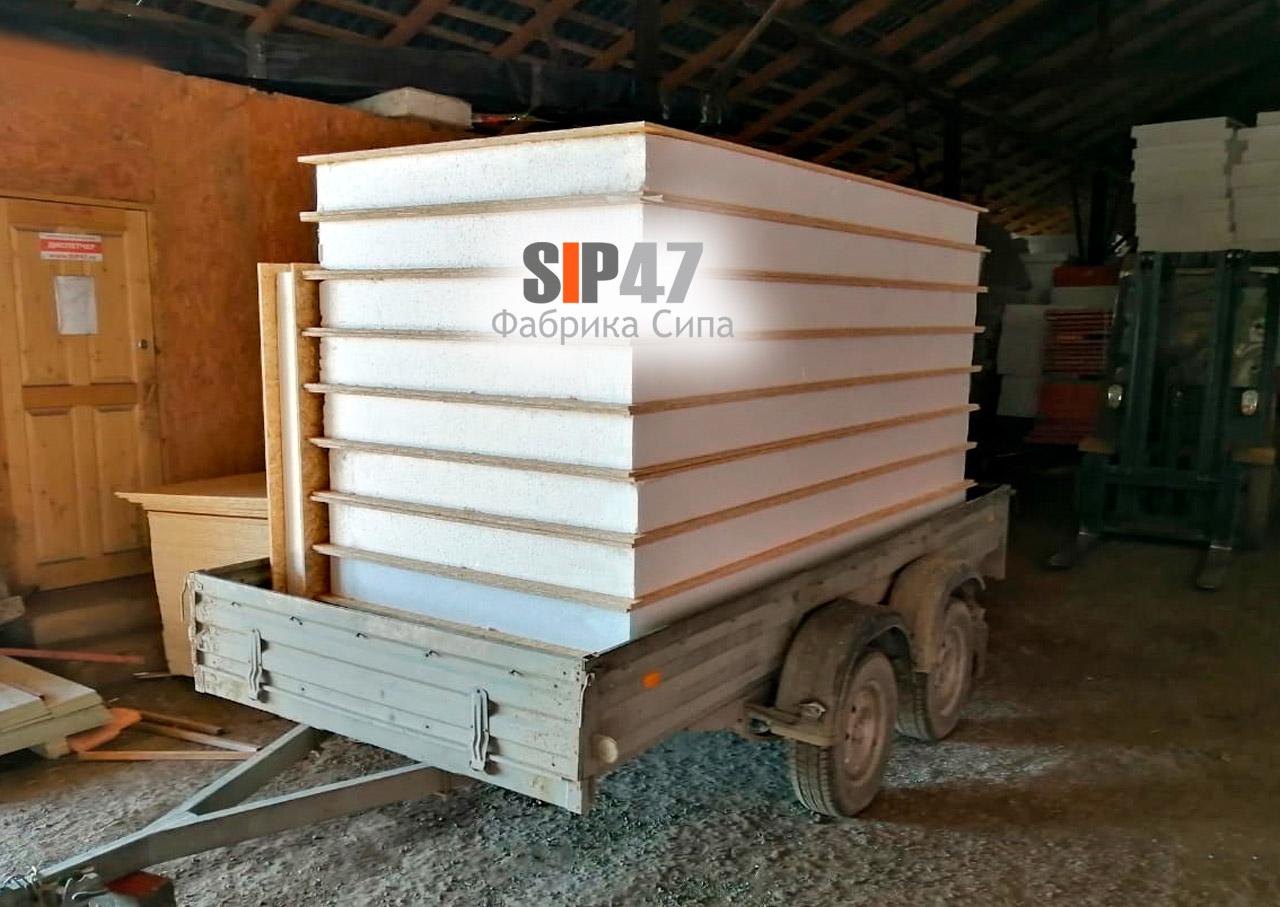 Самовывоз СИП-панелей в посёлок Ропша