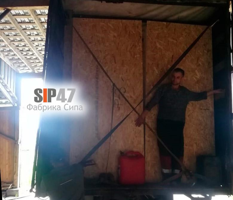 Доставка СИП-панелей в посёлок Лебяжье
