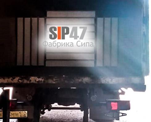 Отгружены СИП-панели в деревню Александровка