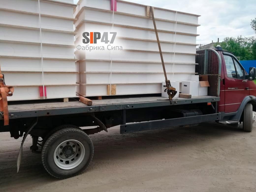 Доставка СИП-панелей для строительства тёплого СИП-дома