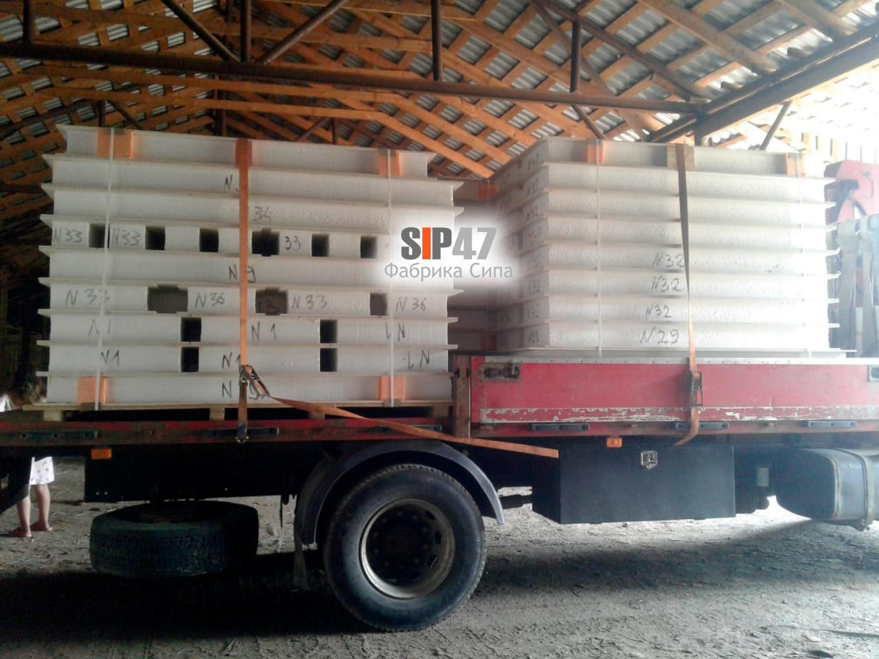 Доставка СИП-панелей из СМЛ в посёлок Ропша