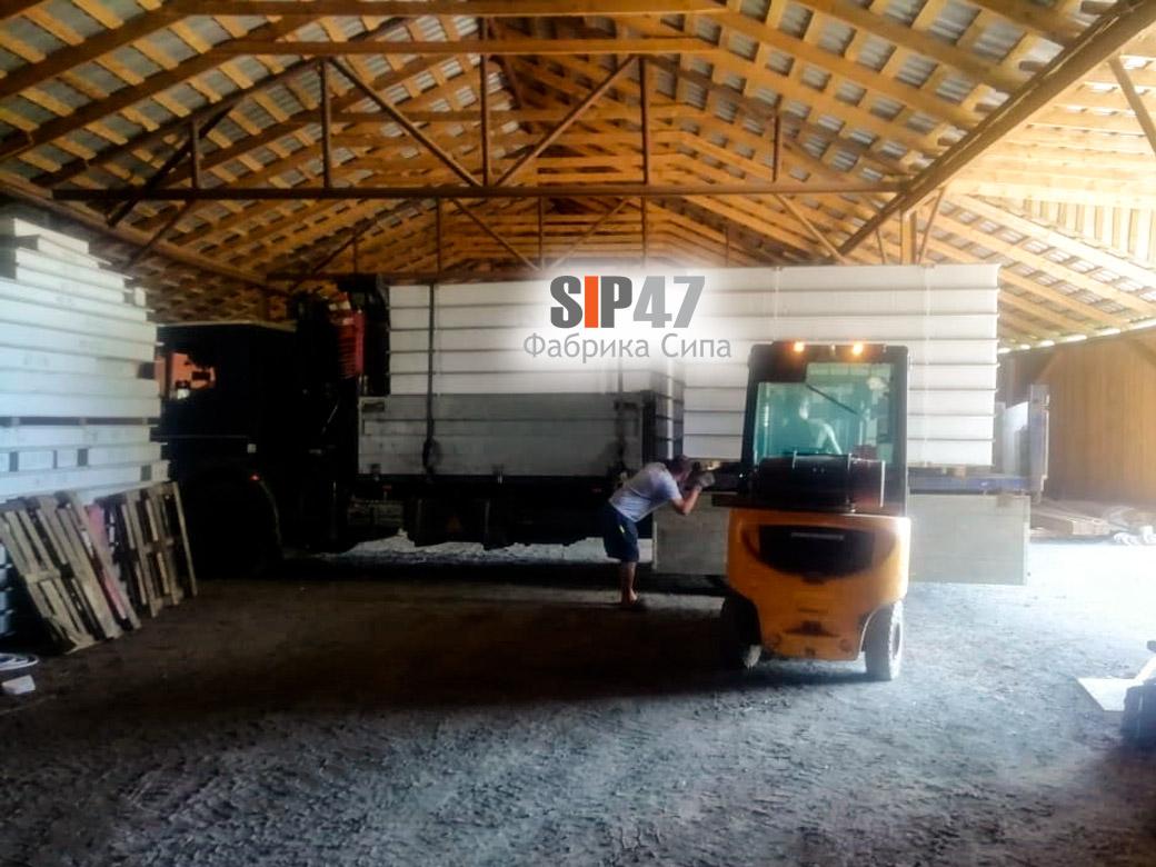 Доставка СИП-панелей из ЦСП в деревню Вирки
