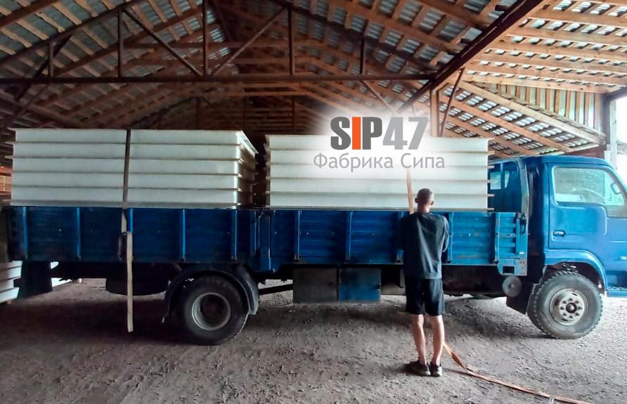 Доставка СИП-панелей в посёлок Кондакопшино Пушкинский район