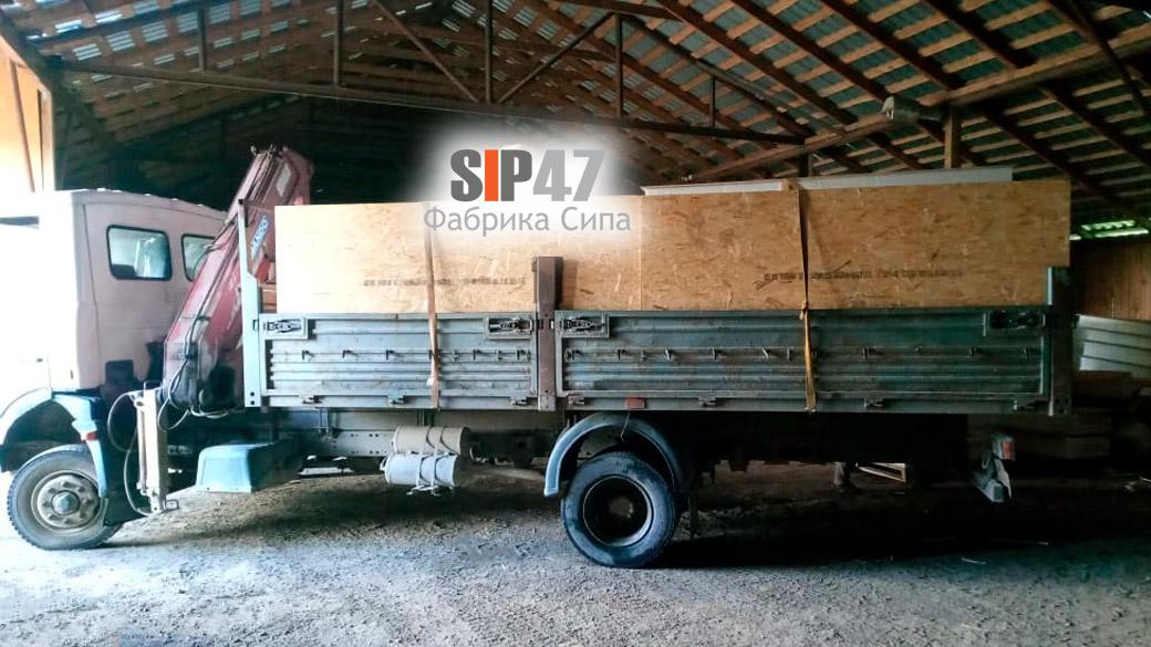 Доставка СИП-панелей в коттеджный посёлок Михайловское