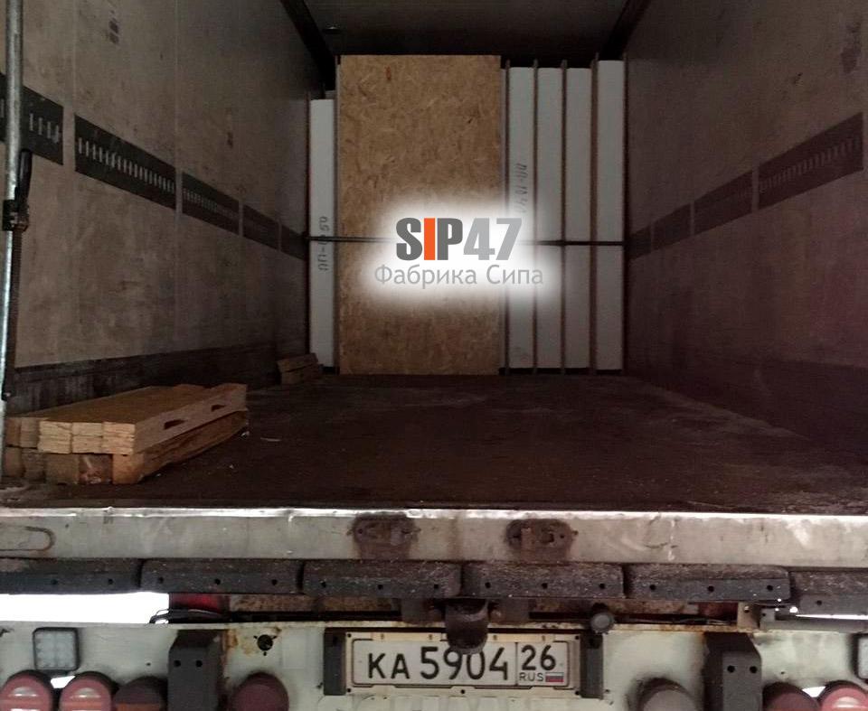 Изготовлен и отгружен СИП-домокомплект в Москву