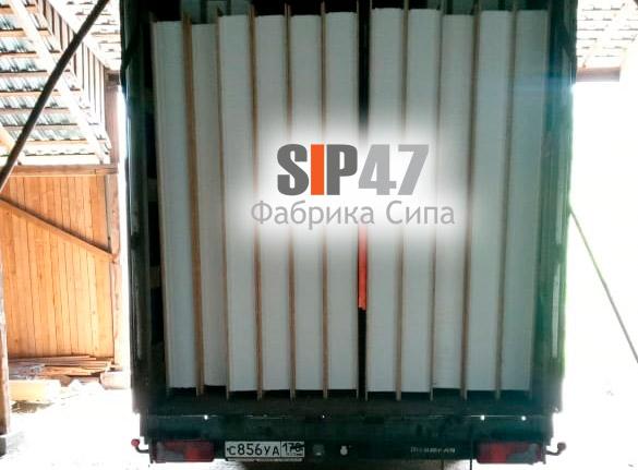Доставка СИП-панелей в село Паша Волховский район