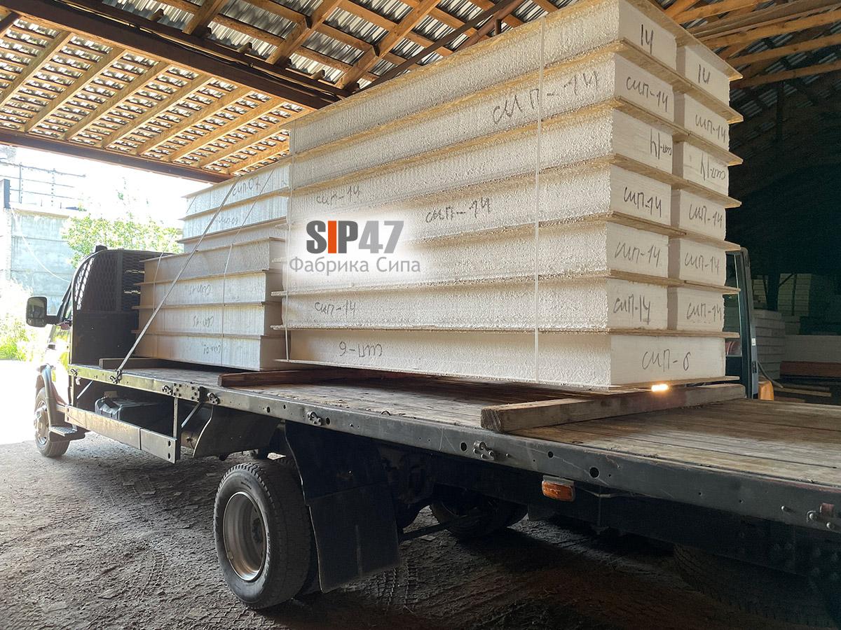 Доставка пристройки из СИП-панелей в деревню Пеники