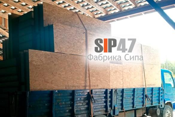 Доставка СИП-панелей 2500х1250х174 мм и 625х174 мм в деревню Сяськелево