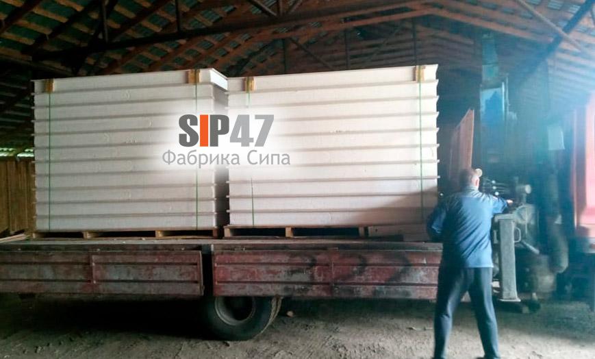 Доставка СИП-панелей из СМЛ листов в деревню Яльгелево